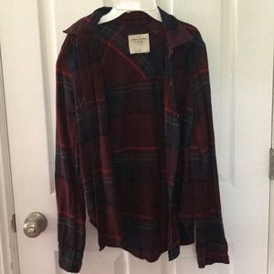 Abercrombie maroon flannel